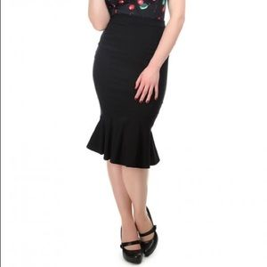 Collectif Mainline Winifred Fishtail Skirt S/ 10UK